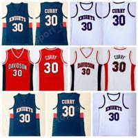 okul spor üniformaları toptan satış-Erkekler Lisesi Stephen Curry 30 Charlotte Knights Forması Davidson Wildcats Curry Koleji Formalar Spor Basketbol Üniforma Dikişli Ucuz