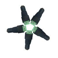 kullanılan güç kablosu toptan satış-Kadın DC Güç Kablosu Jack Adaptörü Bağlayıcı Tak 5050 2835 LED Şerit Halat Neon CCTV Kamera Kullanımı için 12 V 24 V