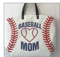 Wholesale Canvas Garage - 13 Styles Canvas Bag Baseball Tote Sports Bags Casual Softball Bag Football Soccer Basketball Cotton Canvas Tote Bag 2018 new