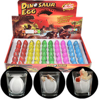 Wholesale grow big - Growing Hatching Dinosaur 60 pcs Egg Water Inflatable Growing Animals Dino Egg Novelty Easter Chirldren Toy Gift J