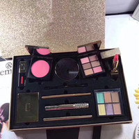 Wholesale Luminous Lipstick - Famous brand 10 Pieces set blush eyeshadow palette lipstick lipgloss highlighter mascara eyeliner eyebrow brush concealer