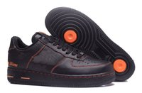 Wholesale Athletic Rubber Bands - Men Athletic Vlone Ultra 1 Low Skate Sneakers Shoes Adult Black Orange Casual Trainers 39-45