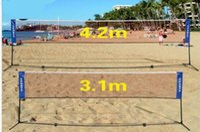 Portable Quickstart Tennis Badminton Net System Indoor Outdoor Sports Volleyball Training Square Mesh Net Blue 3M 4M 5M 6M