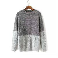 Wholesale new products computers resale online - YANQIN New Product Woman s Knitting Sweater O neck Color Matching Autumn And Winter Thickness Loose Pullovers Sweater