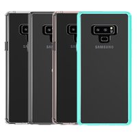 Wholesale transparent plastic case - For Samsung Note 9 Case Clear Hybrid Soft TPU Bumper Back Cover Phone Case For Samsung Galaxy Note 9