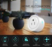 interruptor de salida wifi al por mayor-Mini Smart Socket WiFi Smart Home EE.UU. Plug Interruptor de salida inteligente funciona con Alexa Control remoto inalámbrico Socket