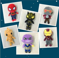 Wholesale 20CM Avengers Infinity Black Panther Action Figure Toy Plush Stuffed Dolls Kids Children Gifts design KKA5071