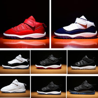 Toddlers Midnight Navy 11s Infant Sneakers Gamma Blue Gym red baby small kids basketball shoes 11 bred concord boy and girl children trainer