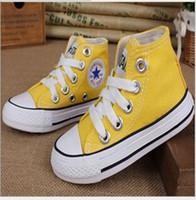 eu taille 34 chaussures achat en gros de-Taille de l'UE 24-34 Nouvelle marque de chaussures de toile pour enfants à la mode - chaussures basses pour garçons et filles