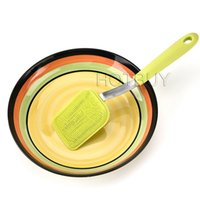 Wholesale silicone pot handles resale online - Long Handle Silicone Pot Pan Cleaning Brush Magic Handheld Dish Bowl Scrubber Cleaner Kitchen Cleaner Tools