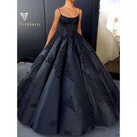 Wholesale strapless lace covered evening dress for sale - Vestidos De Noiva Fiesta Hot Sale Simple Strapless Ball Gown Prom Dresses Applique Satin Evening Dresses