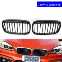 Wholesale bmw series black kidney grills for sale - For BMW F45 F46 Series i i Car Front Hood Kidney Grille Grill Black Auto Bonnet Racing Grills Mat Black