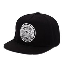 Wholesale dome labels for sale - 2018 Fashion Round Label Triangle Eye Illuminati Snapback Caps Women Adjustable Baseball Cap Snapbacks Hip Hop Hats