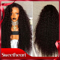 Wholesale Hot Selling Long African American Wig Density Afro Kinky Curly Synthetic Lace Front Wigs with Babyhair Heat Resistant Women Wigs