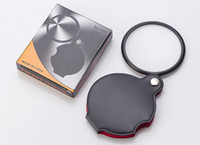 Portable Mini Black 50mm 8x Hand-Hold Reading Magnifying Magnifier Lens Glass Foldable Jewelry Loop Jewelry Loupes with retail package box