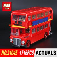 Wholesale model toys buses - New LEPIN 21045 1716Pcs Creator Camper Bus Model Building Kits Bricks Toys Model Compatible for Children toy Gifts 10258