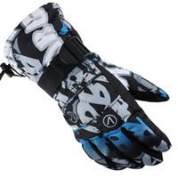 gants imperméables à l'homme achat en gros de-En plein air Sport Gants De Ski Marque Hommes Gants De Ski Hommes Snowboard Moto Equitation Hiver Coupe-Vent Étanche Unisexe Neige Chaud Gants