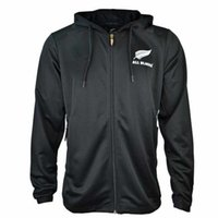 Wholesale new zealand clothing online - Best Quality All Blacks Black Hoodie New Zealand Super Rugby Jerseys All Blacks jersey Casual clothes ALL BLACKS Jacket s xl