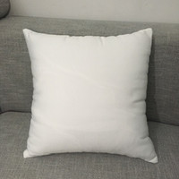 "16""x16"" white polyester pillow case pure white pillow cover blank 100% polyester canvas cushion cover for sublimation"