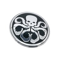 Wholesale Center Wheel Decals - Hydra Octopus skull Car Steering tire Wheel Center car sticker Hub Cap Emblem Badge Decals Symbol For VW Jaguar Audi BMW Nissan