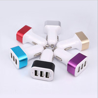 Wholesale foot car - Quality foot 2A car charger 3 USB interface 4.1A large capacity car filled with aluminum alloy steel ring.
