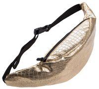 beige fanny packs Canada - 2016 Fashion belt bag with bottle Gold Alligator PU Waist bag fanny pack for women pouch Leather leg bags bolso para cinturon