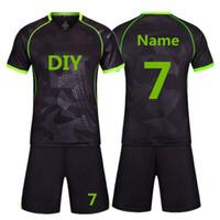 jerseys para niños baratos al por mayor-2018 Nueva alta calidad Kids Soccer Jerseys Sets Survetement Fútbol Kits adultos hombres niño Futbol entrenamiento baratos uniformes conjuntos DIY