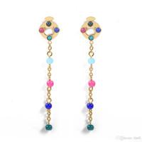Wholesale jade earrings white gold - jewelry earring PCE2103