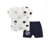 Wholesale cartoon pyjamas - New kids Girls pajamas sets Princess pyjamas sleepwear home clothing cartoon cotton Baby pijama 2-7Y