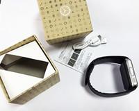 relógio sincronizar iphone venda por atacado-Bluetooth smart watch gt08 para apple iphone ios android telefone suporte ao desgaste do pulso de sincronização sync smart clock sim cartão
