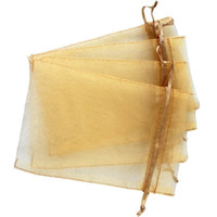 Wholesale organza wedding pouch bags 9x12cm online - Hot Sales CHAMPANE Drawstring Organza Gift Bags x9cm x12cm x15cm Wedding Party Christmas Favor jewelry Bags