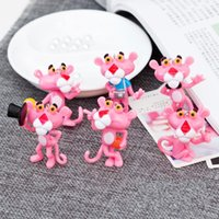 Wholesale pink panther toys for sale - Hot Cartoon Pink Panther Key Chain Oendant Keyring Cute PVC Soft Glue Car Keychains Pendant Holder Toy Gifts xl aa