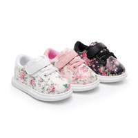 Wholesale flower shoes for babies - Baby Shoes For Girls Soft Moccasins Shoe Spring Baby Girl Flower Sneakers Toddler Boy Newborn Shoes First Walker