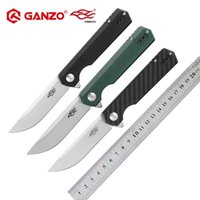 Wholesale ganzo knives online - Firebird Ganzo FH11 HRC D2 blade G10 or Carbon Fiber Handle Folding knife Survival Camping Pocket Knife tactical edc outdoor tool