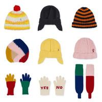 garçons filles gants achat en gros de-2018 automne hiver garçons vêtements filles vêtements enfants écharpes bobo choses nouveaux chapeaux bébé chapeaux casquettes gants garçons ensembles