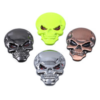 Wholesale black metal car sticker for sale - 1Pcs D Skull Zinc Alloy Metal Car Motorcycle Sticker Skull Emblem Badge Car Styling Stickers Accessories Car Decoration