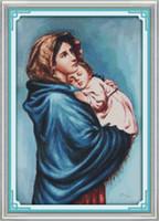 ingrosso dipinti mary vergini-La Vergine Maria, Christian Jesus decor dipinti, ricamo a punto croce fatto a mano Set di ricamo contato stampa su tela DMC 14CT / 11CT