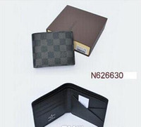 Wholesale Low Price Leather - low price men leather brand classic luxury card wallet casual short designer card holder holder pocket fashion wallets men coin wallet