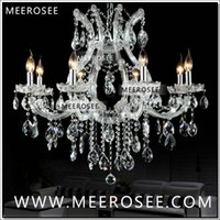 Wholesale maria crystal chandelier light - Hot selling Maria Theresa Clear Crystal Chandelier Lamp Luster Cristal Pendelleuchte Light Fixture top quality 8 Lights