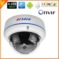 Wholesale 3mp dome - BESDER H.265 5MP 2592*1944 IP Camera Vandal-proof Surveillance Video Dome Camera CCTV H.265 5MP 3MP 2MP IP DC 12V 48V PoE