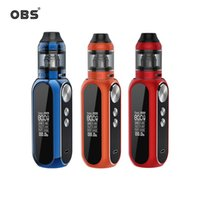 Wholesale multi electronics online - OBS Cube W Kit Built in mAh Battery ml ml Tank M1 Mesh Coil OLED Screen Electronic Cigarette Starter Mod Kit Authentic
