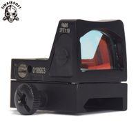 pistolenumfang taktisch großhandel-Sinairsoft Red Dot Sight Scope Tactical Einstellbare Zielfernrohr Mit Trijicon Style Mini-spiegel für pistole Umfang picatinny schiene Zielfernrohre