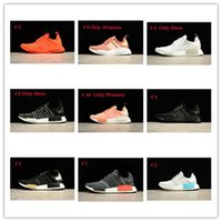 Wholesale hard sun - Sales Promotions Discount Promotions NMD Runner Shoes Black Gold Solar Red Sun Rays NMDs R1 FTWR Men's and Women's Outdoor Training Running