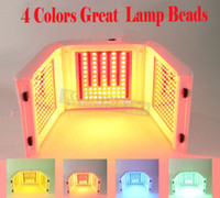 farbe perlen geführt großhandel-Hohe Qualität 4 Farbe Biger Perlen LED PDT Licht Hautpflege LED Gesichtspflege PDT Therapie Hautverjüngung Akne Remover Anti-Falten Tragbare CE