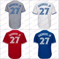 Wholesale 4xl size women - #27 Vladimir Guerrero Jr Jersey Men's Youth Women Toronto Blue Grey Red White Custom Jersey Size S-4XL