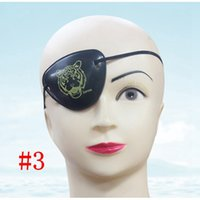 Wholesale pirate eye patches - 2018 Pirate Eye Patch Skull Crossbone Halloween Party Favor Bag Costume Kids Halloween Toy Craft Gifts