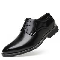 ingrosso marrone scarpe formali nuove-New Concise Men Nero Tempo libero Scarpe in pelle Moda scarpe da punta a punta Pizzo Abito da cerimonia di tendenza Formale Uomo Taglie forti 47 48 Marrone