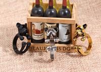 ingrosso anelli di cane dei monili-Monili di modo Bulldog francese Hippie Chic Ring Anelli di cane animale vintage Anello aperto dimensioni per uomini donne D949L