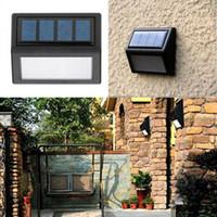 lumières de balcon d'énergie solaire achat en gros de-Maison Jardin Solaire À Contrôle Optique Lumière Étanche 6 LED Énergie Solaire Mur Lumière Extérieur Jardin Rue Balcon Cour Lampe