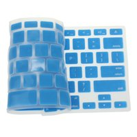 Wholesale blue apple laptops - Laptop Keyboard Cover Sky Blue Silicone Keyboard Skin Cover For Apple Macbook Pro Air Mac Retina 13.3 2018